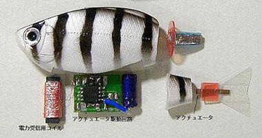 魚ロボット内部構造